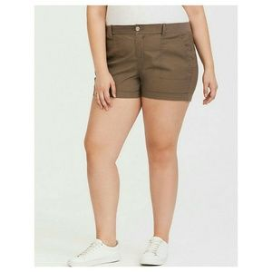 Torrid Shorts Brown Morel Poplin Plus Size 16